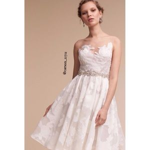 Anthropologie BHLDN Watters Colletta Dress 8 White